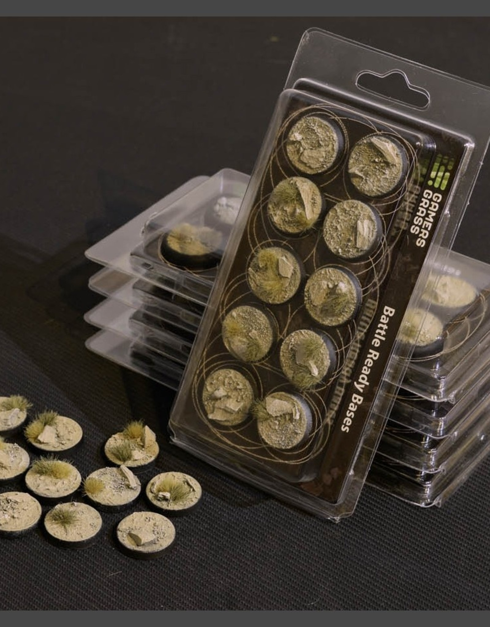 Gamers Grass Arid Steppe Bases Pre-Painted (10x 25mm Round )