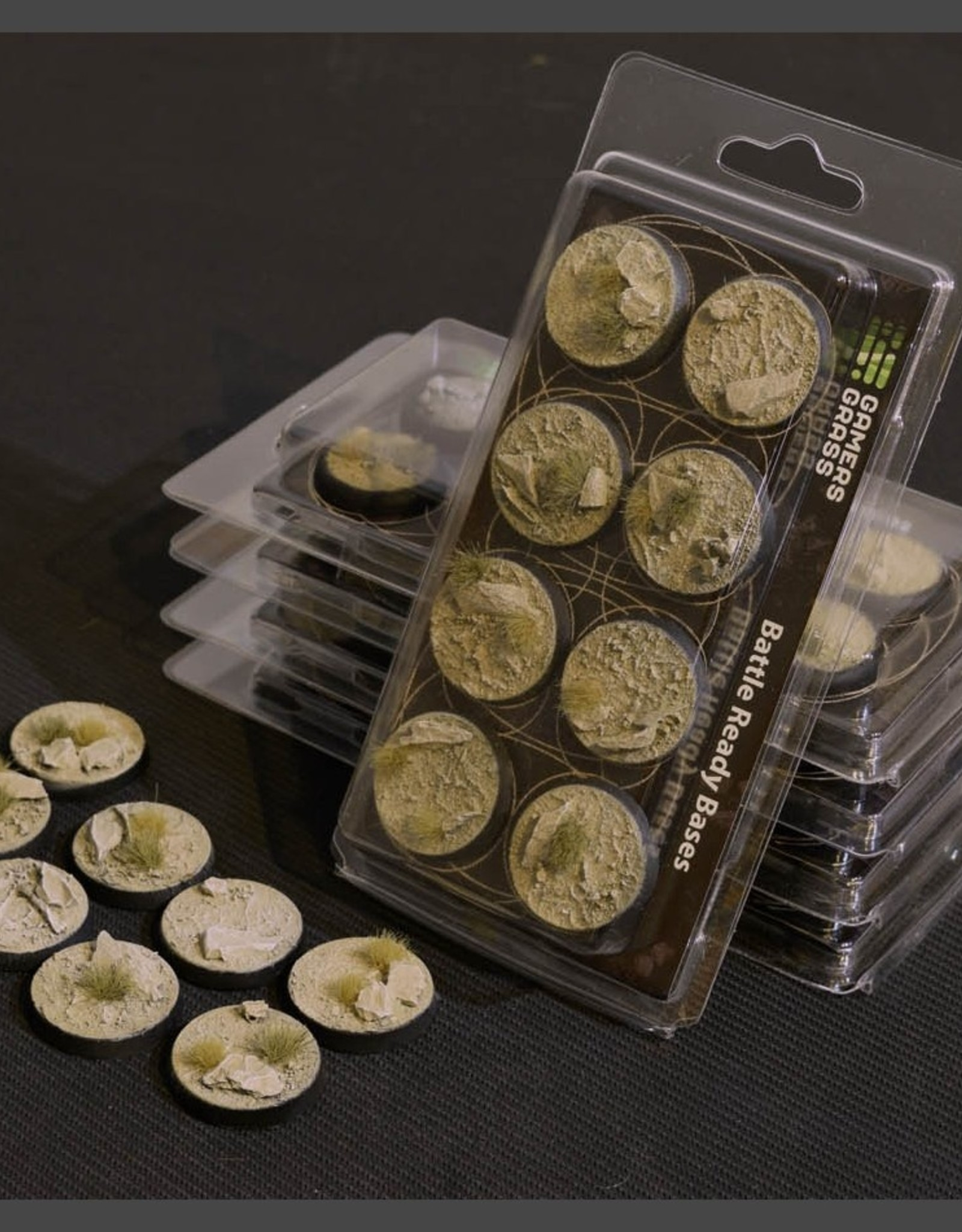 Gamers Grass Arid Steppe Bases Pre-Painted (8x 32mm Round)