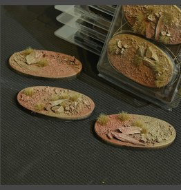 Gamers Grass Badlands Bases Pre-Painted (3x 75mm Oval)