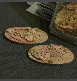Gamers Grass Badlands Bases Pre-Painted (2x 90mm Oval)