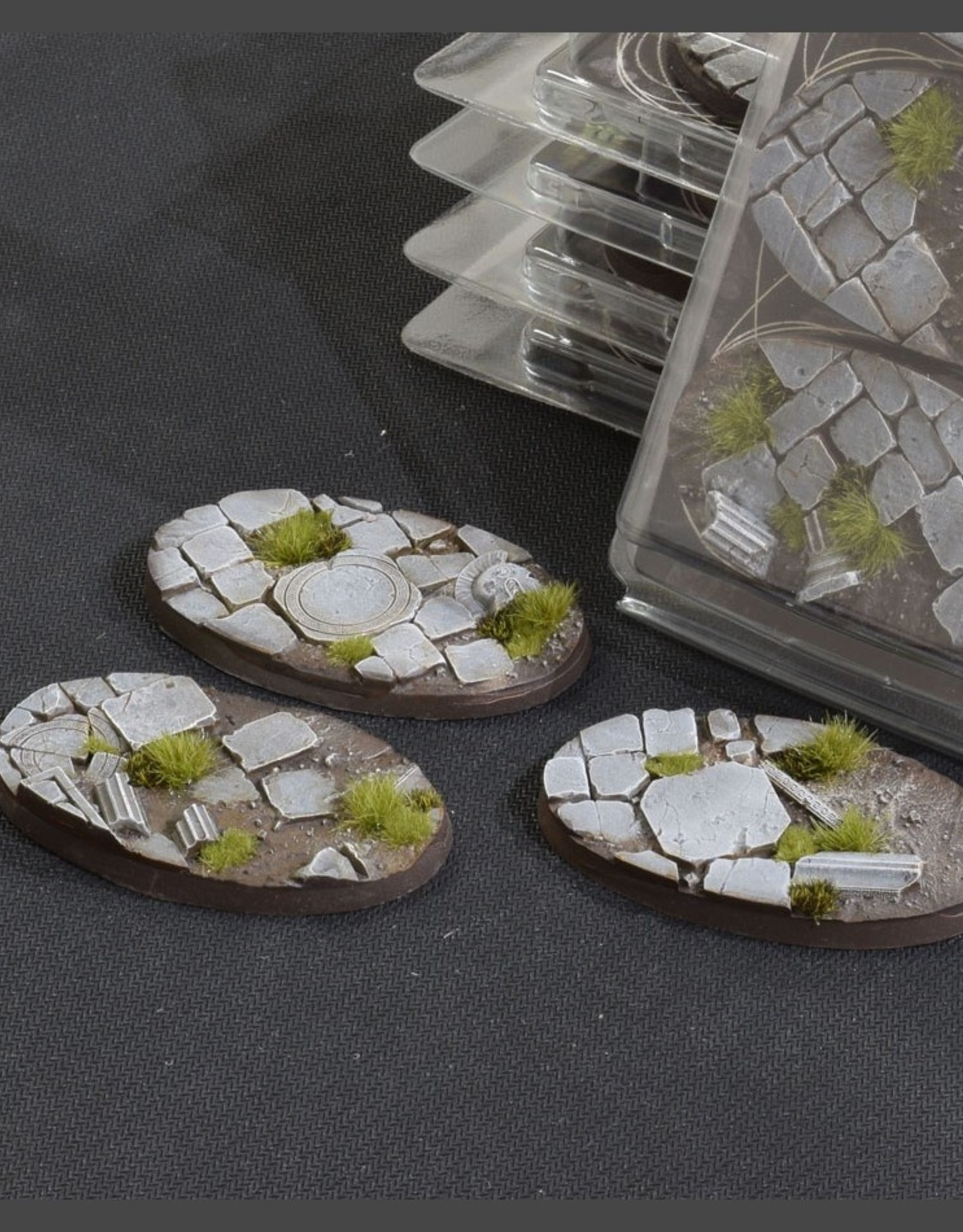 Gamers Grass Temple Bases Pre-Painted (3x 75mm Oval)
