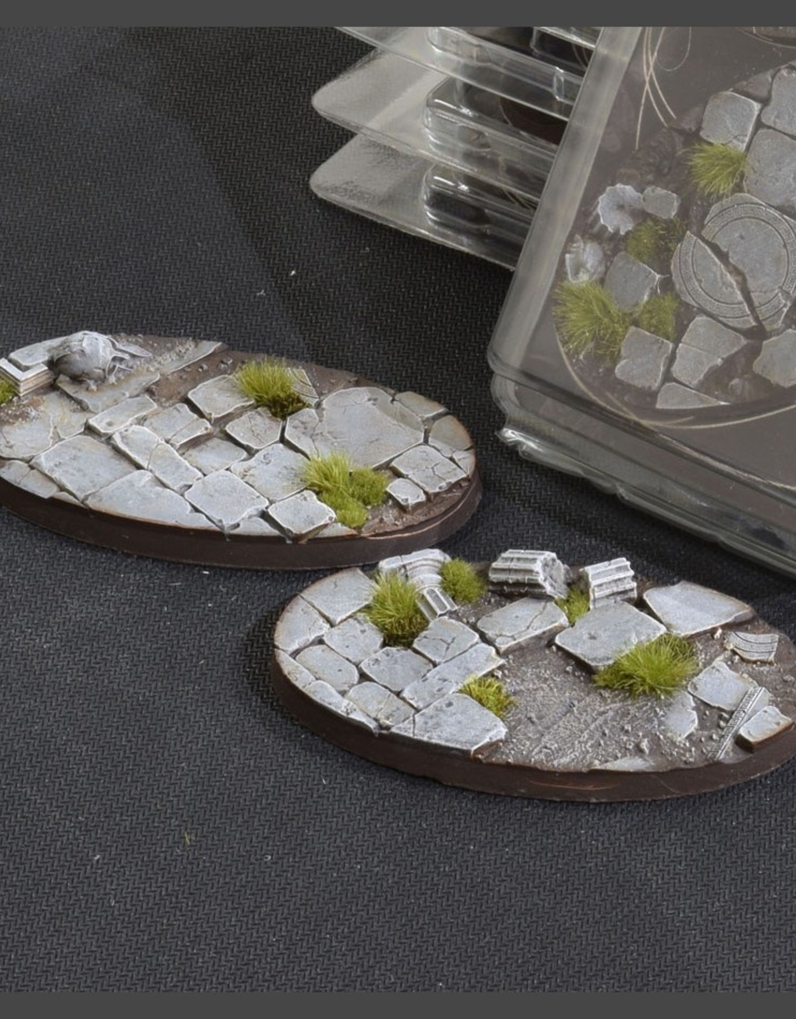 Gamers Grass Temple Bases Pre-Painted (2x 90mm Oval)