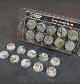 Gamers Grass Urban Warfare Bases Pre-Painted (10x 25mm Round )