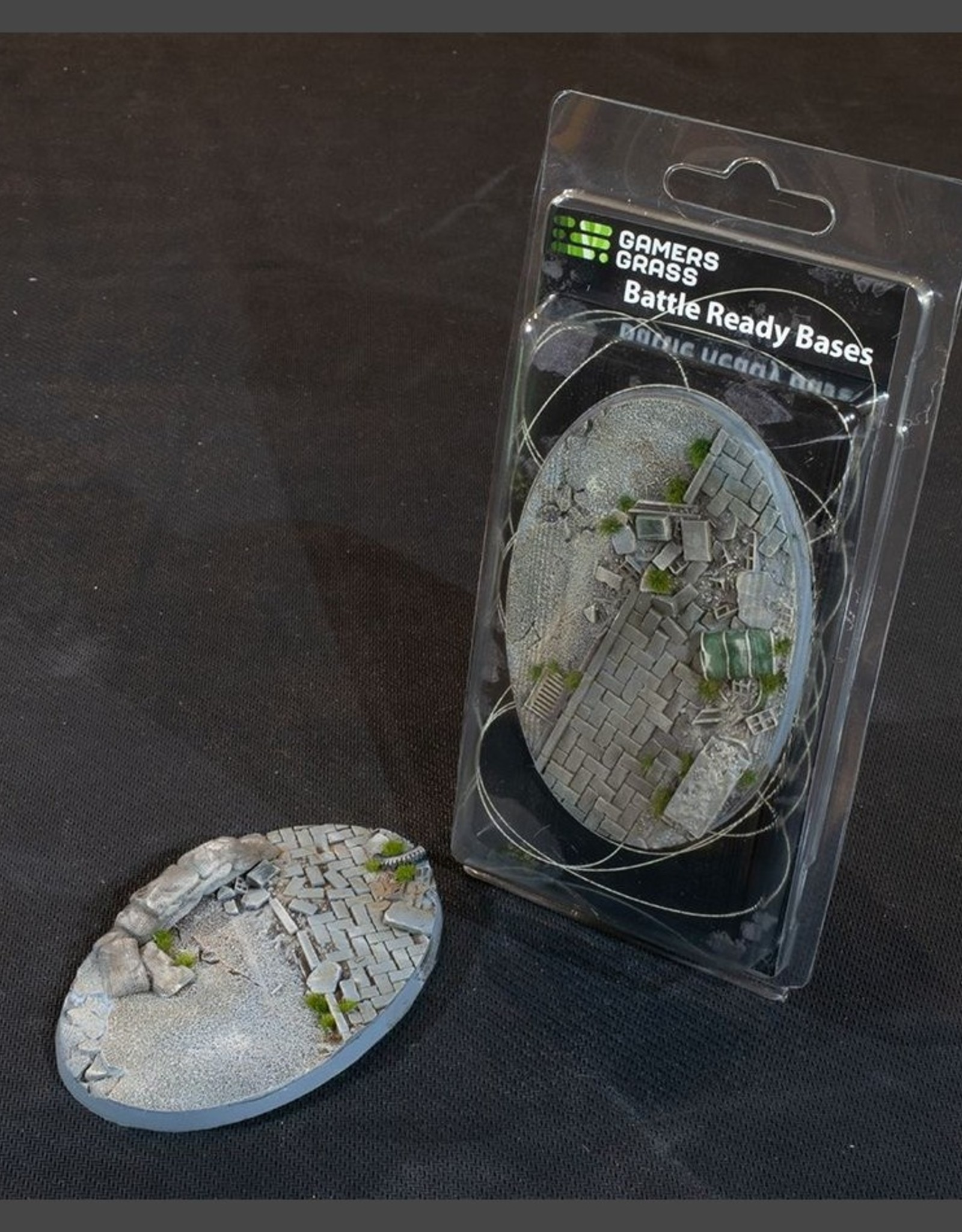 Gamers Grass Urban Warfare Bases Pre-Painted (1x 105mm Oval)