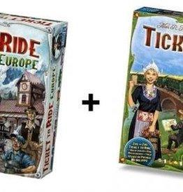 Days of Wonder Ticket to Ride Combi-Deal: basisspel Europe (NL) en Nederland