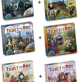Days of Wonder Ticket to Ride Deal: 6 uitbreidingen (NL/EN/DE/FR/SP/IT)