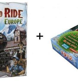 Days of Wonder Ticket to Ride Combi-Deal: basisspel Europe (NL) en Europe 1912