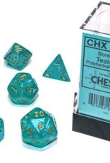 Chessex Chessex 7-Die set Borealis Luminary  - Teal/Gold