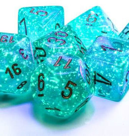 Chessex Chessex 7-Die set Borealis Luminary  - Teal/Gold
