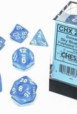 Chessex Chessex 7-Die set Borealis Luminary  - Sky Blue/White