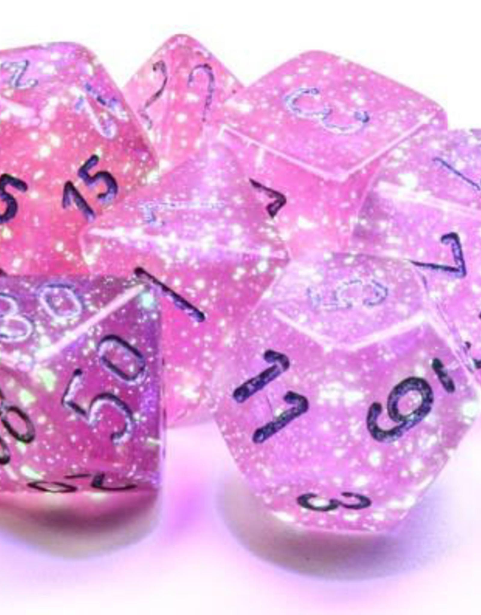 Chessex Chessex 7-Die set Borealis Luminary  - Pink/Silver