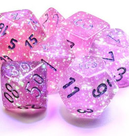 Chessex Chessex 7-Die set Borealis Luminary  - Pink/Silver