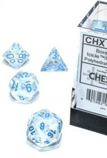 Chessex Chessex 7-Die set Borealis Luminary  - Icicle/Light Blue