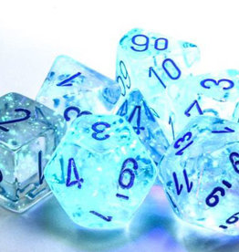 Chessex Chessex 7-Die set Borealis Luminary  - Icicle/Light Blue
