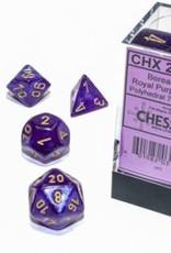 Chessex Chessex 7-Die set Borealis Luminary  - Royal Purple/Gold