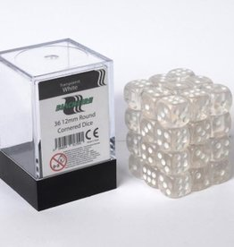 ADC Blackfire Dice cube 12mm - Transparent White (36)