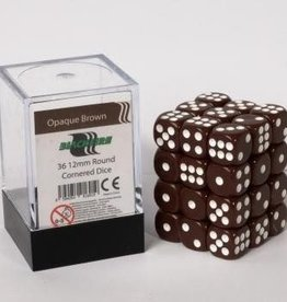 ADC Blackfire Dice cube 12mm - Opaque Brown (36)