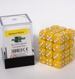 ADC Blackfire Dice cube 12mm - Opaque Yellow (36)