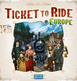 Days of Wonder Pre-order Ticket to Ride Europe: 15th Anniversary Edition (EN)