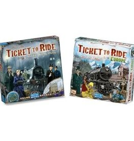 Days of Wonder Ticket to Ride Deal: basisspel Europe (NL) en UK/Pennsylvania
