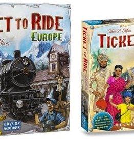 Days of Wonder Ticket to Ride Deal: basisspel Europe (NL) en India/Switserland