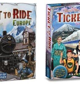 Days of Wonder Ticket to Ride Deal: basisspel Europe (NL) en Japan/Italy