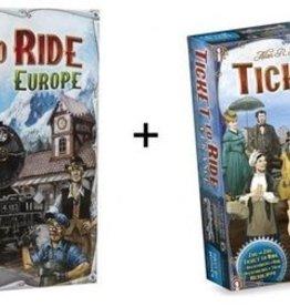 Days of Wonder Ticket to Ride Combi-Deal: basisspel Europe (NL) en France/Wild West