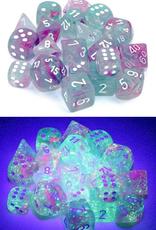 Chessex Chessex 7-Die set Nebula Luminary - Wisteria/White