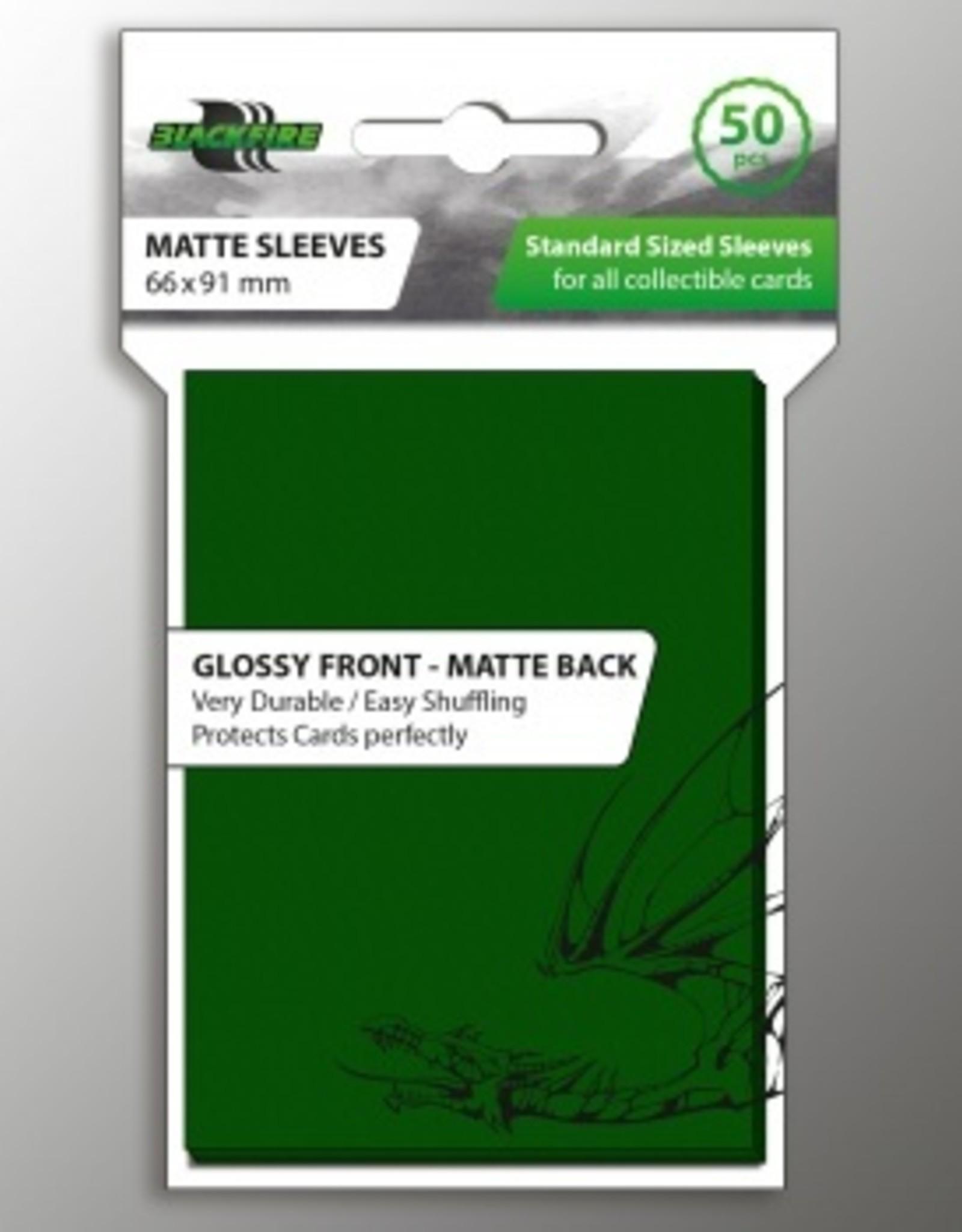ADC Blackfire Blackfire Sleeves Standard Glossy Front Matte Back Green (50) (66x91mm)