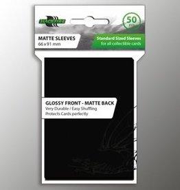 ADC Blackfire Blackfire Sleeves Standard Glossy Front Matte Back Black (50) (66x91mm)