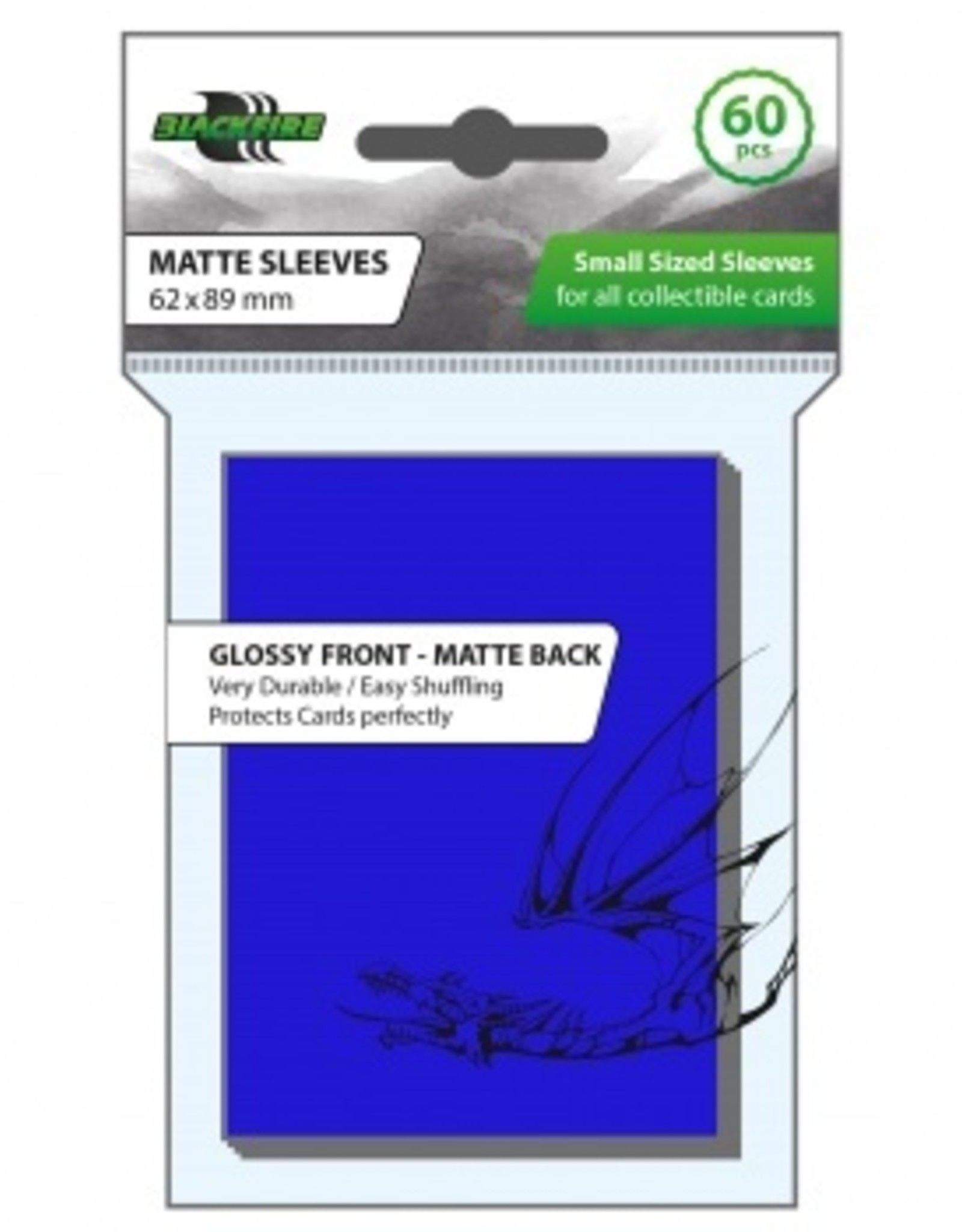 ADC Blackfire Blackfire Sleeves Small Glossy Front Matte Back Blue (60) (62x89mm)