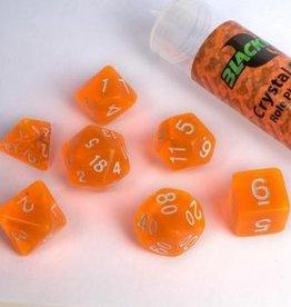 ADC Blackfire Poly Dice Set Crystal Orange