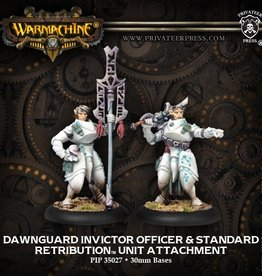 Privateer Press Dawnguard Invictor Officer and Standard Bearer