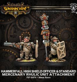Privateer Press High Shield Gun Corps Officer and Standard Bearer