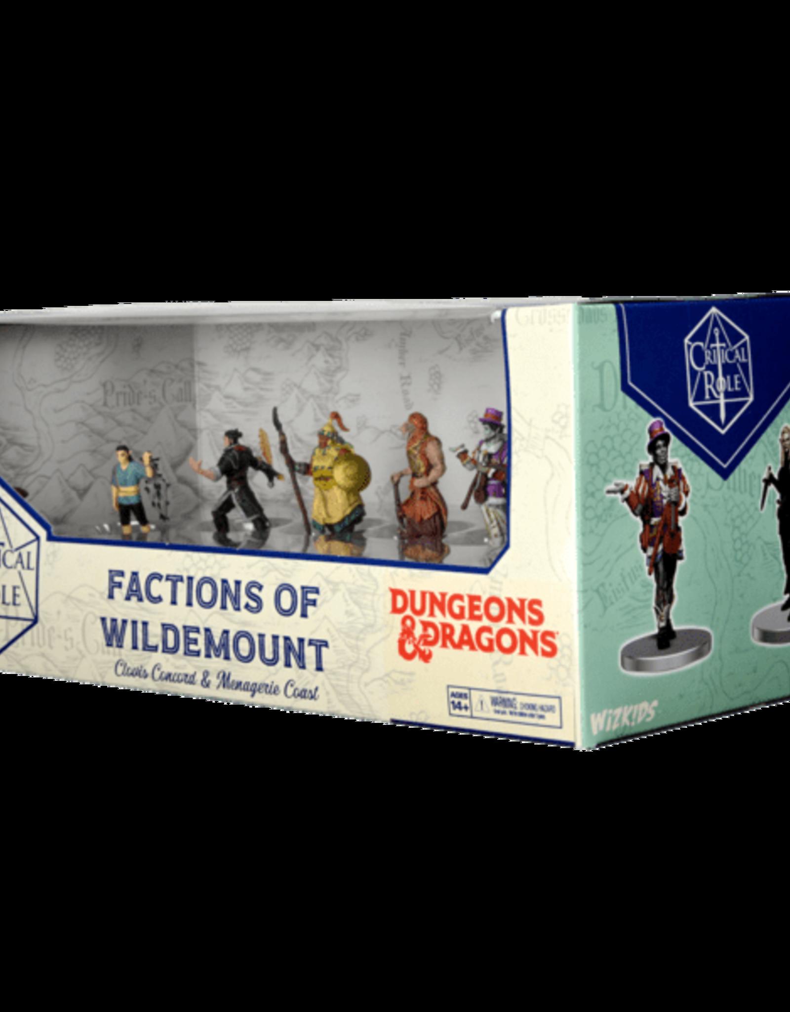 Wizkids D&D Critical Role: Factions of Wildemount - Clovis Concord & Menagerie Coast  Box Set