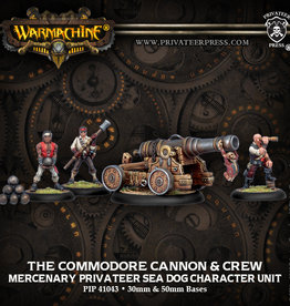 Privateer Press Commodore Cannon and Crew