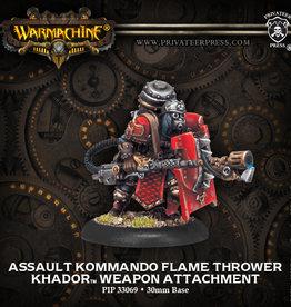 Privateer Press Assault Kommando Flame Thrower