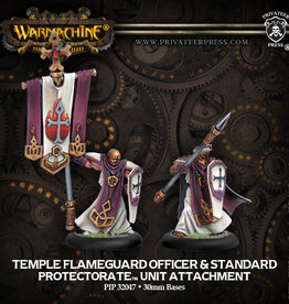 Privateer Press Flameguard Officer and Standard