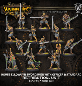 Privateer Press House Ellowuyr Swordsmen with Officer andf Standard