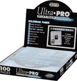 Ultra Pro Hologram Pages Platinum (100)