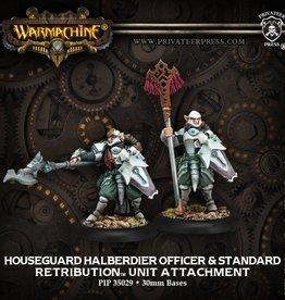Privateer Press Houseguard Halberdier Officer and Standard Bearer