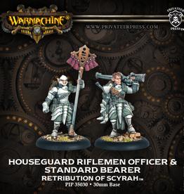Privateer Press Houseguard Rifleman Officer and Standard Bearer