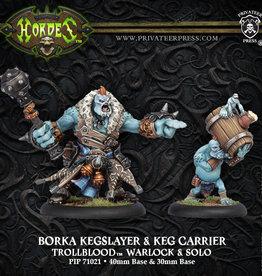Privateer Press Borka Kegslayer and Keg Carrier