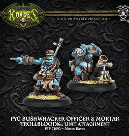 Privateer Press Pyg Bushwacker Officer and Mortar