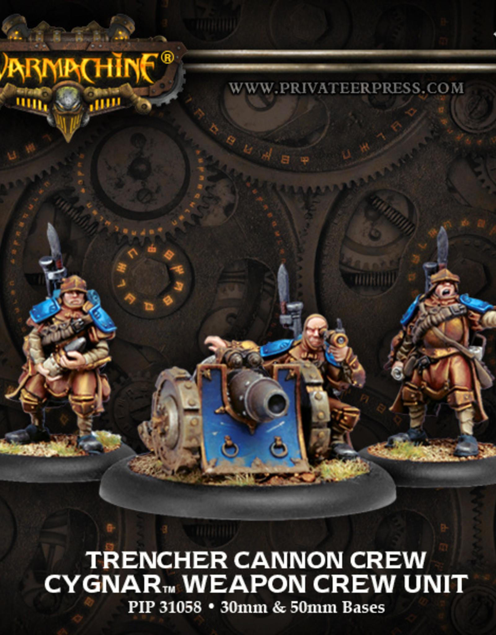 Privateer Press Trencher Cannon Crew