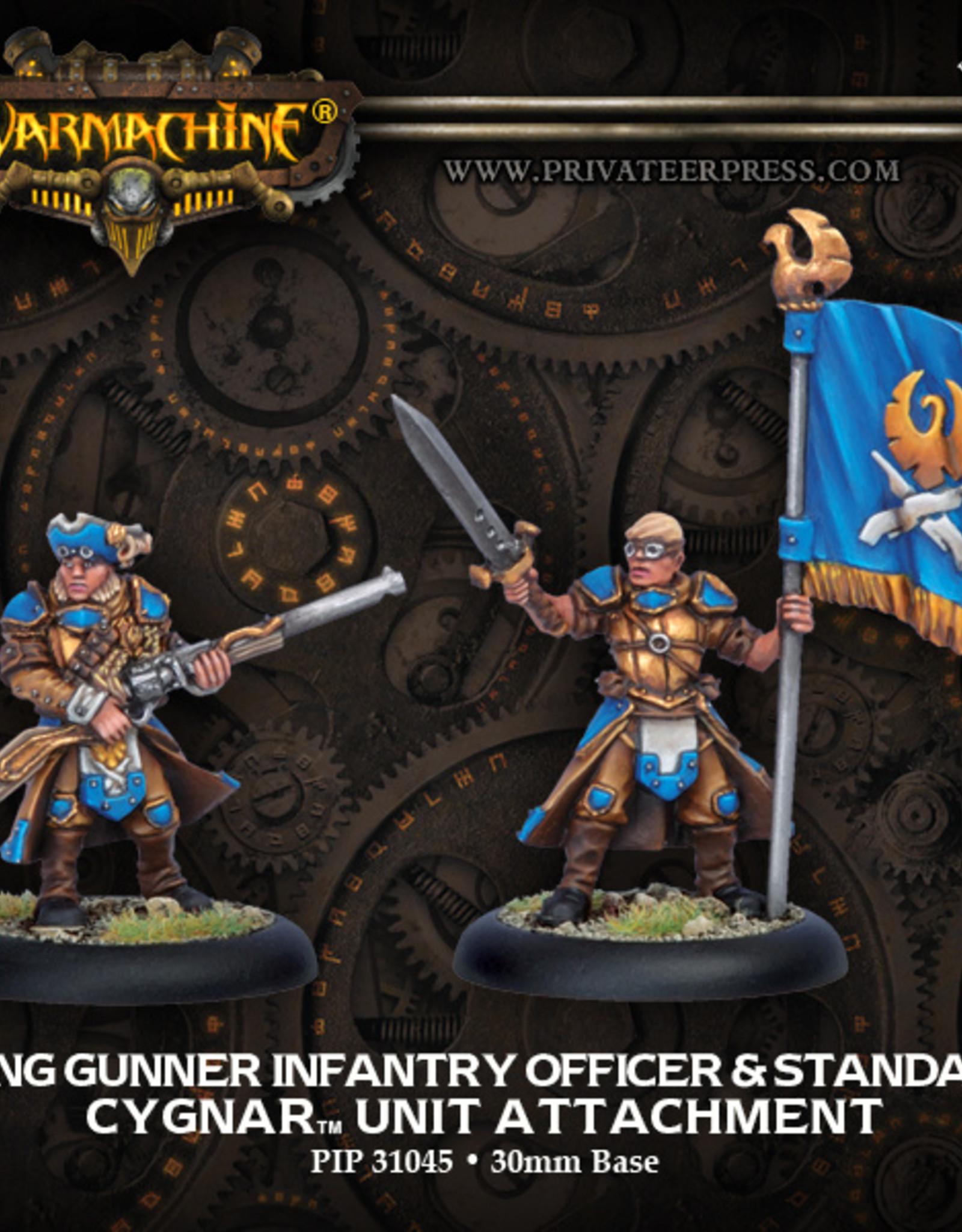 Privateer Press Long Gunner Officer and Standard
