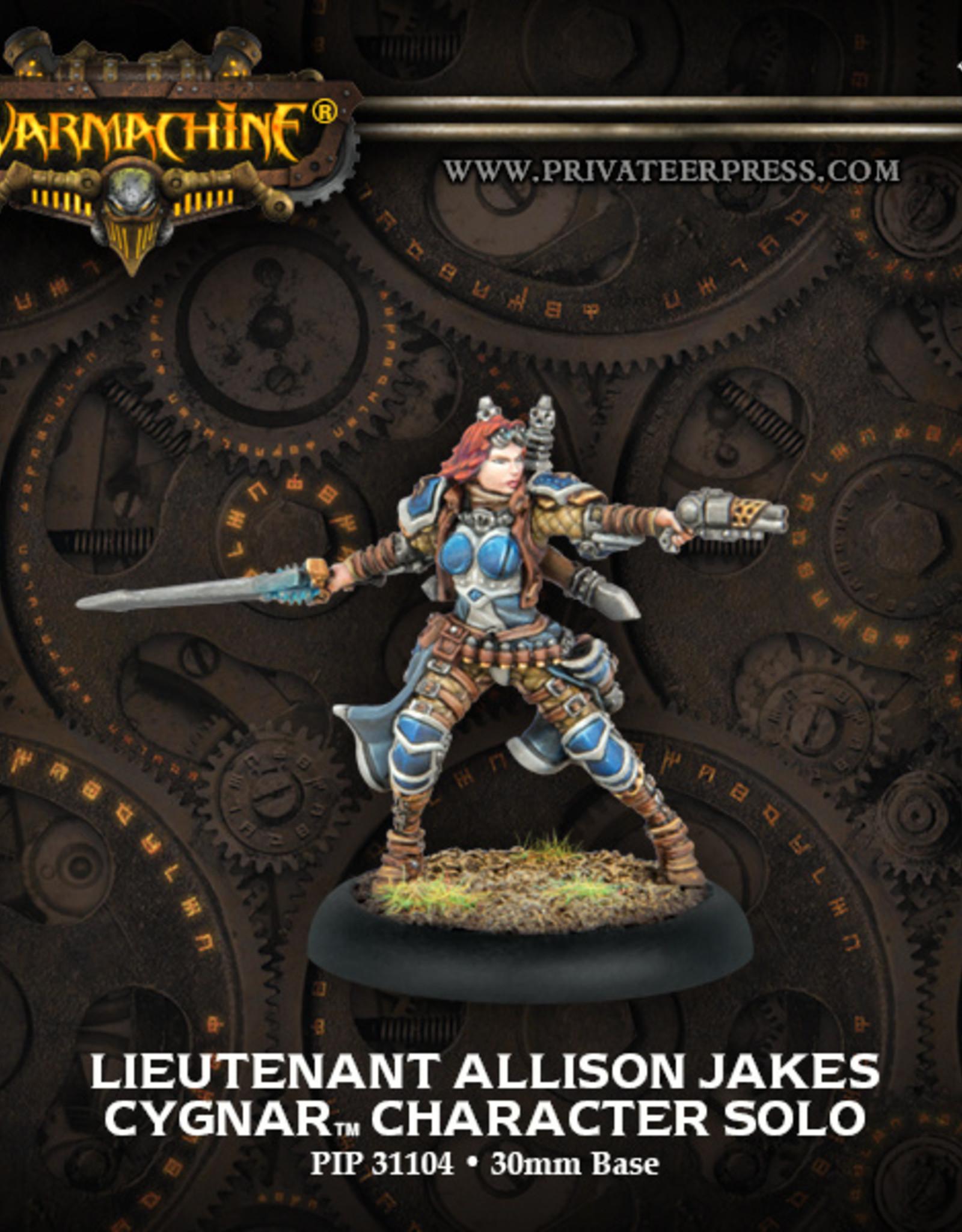Privateer Press Lieutenant Allison Jakes