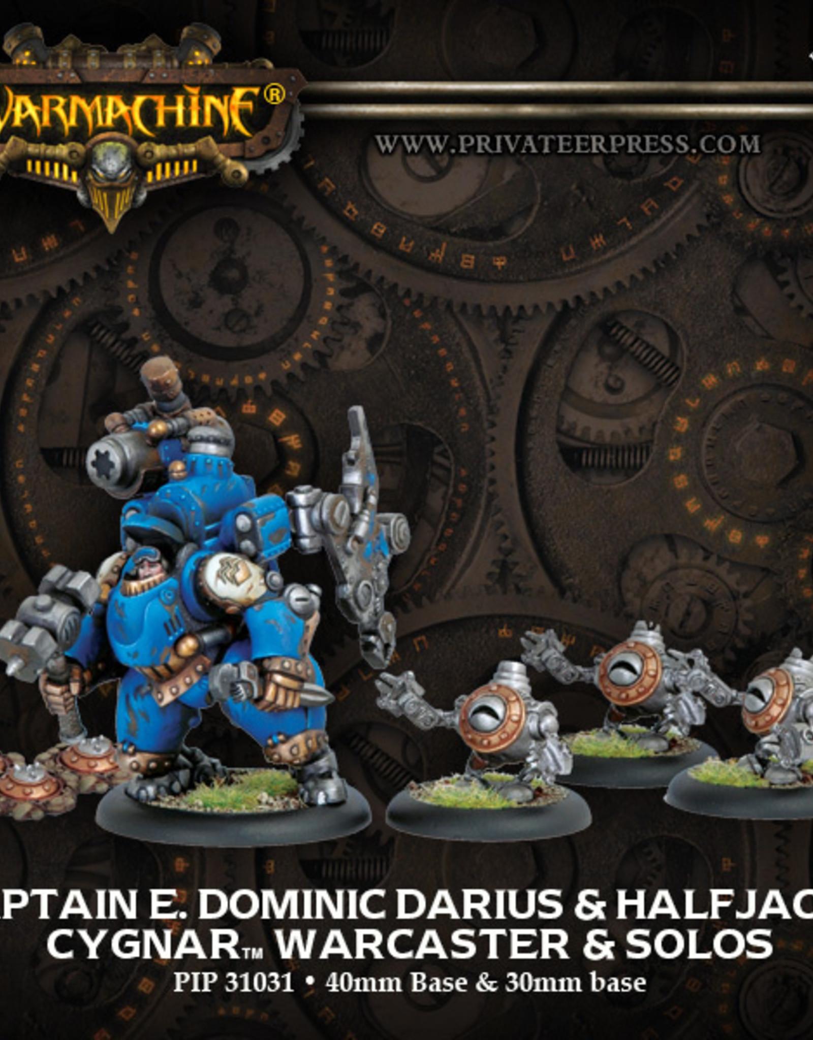 Privateer Press Captain E. Dominic Darius & Halfjacks
