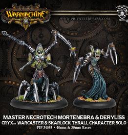 Privateer Press Master Necrotech Mortenebra and Deryliss