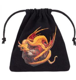 Q-Workshop Dragon Black & Adorable Dice Bag